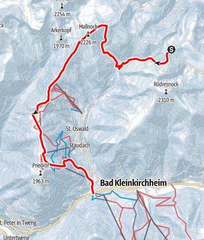 Karte / Nockberge-Trail: Skiroute Etappe 4