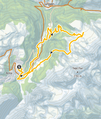Map / Enduro: Arosa - Medergen - Arosa