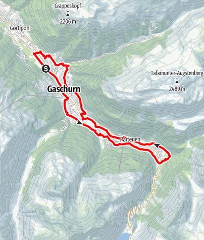 Karte / Gaschurn-Partenen (Ga-Pa) Runde