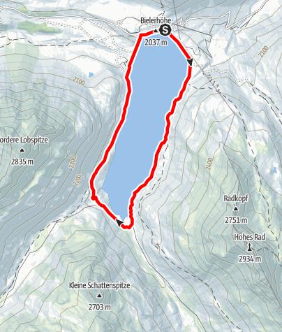 Kaart / Silvrettasee Uferrunde