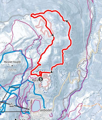 Karte / Langlaufloipe Prätschalp 8km