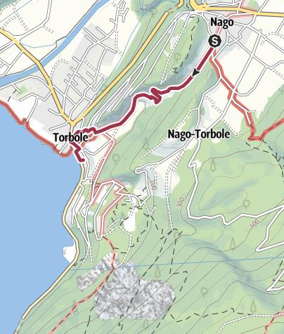 Map / Hidden Treasures: To Torbole in Goethe's footsteps