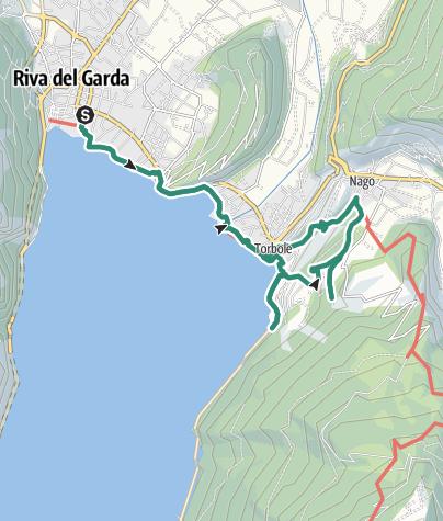 """Karte / Verborgene Schätze: Die """"Blaue Linie"""" des Garda Trentino"""