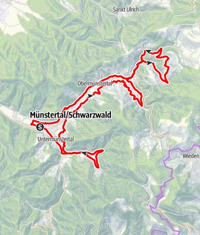 Karte / Große Münstertäler Bauernhaus-Runde