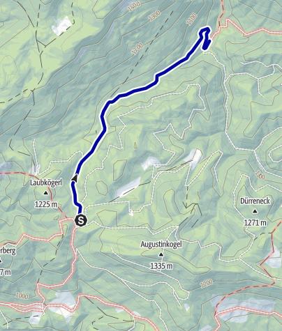 Karte / Biwakplatz Steyrsteg ab Windischgarsten, Wanderweg