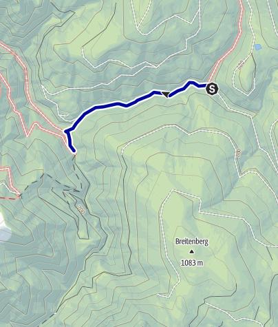 Karte /  Biwakplatz Weißwasser  ab Weißwasser , Wanderweg
