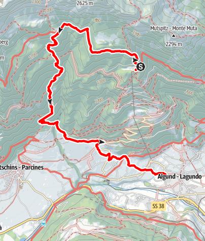 Karte / Leiter Alm - Hochganghaus - Oberhaus - Niederhaus
