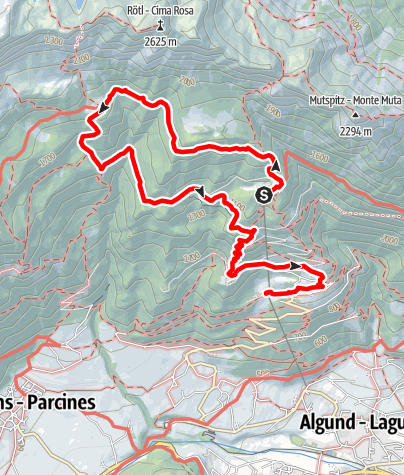 Mapa / Leiter Alm - Hochganghaus - Gamplweg - Vellau
