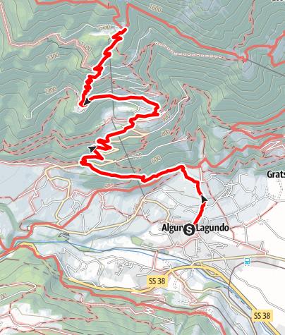Mappa / Lagundo - Velloi - Rifugio Leiter