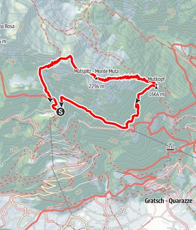 Mappa / Rifugio Leiter - Rifugio Mutkopf - Rifugio Steinegg