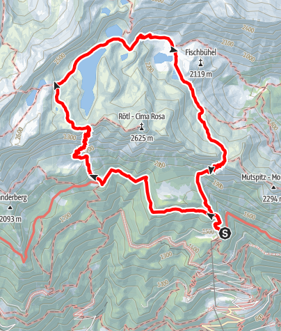 Map / Sprons Lakes - circular hiking route