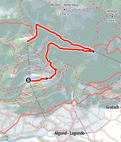 Mappa / Felsenweg di Velloi - Rifugio Hochmuter