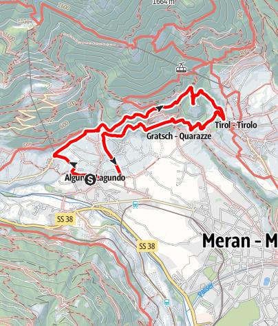 Mapa / Burgweg - Ochsentodweg - Schloß Tirol
