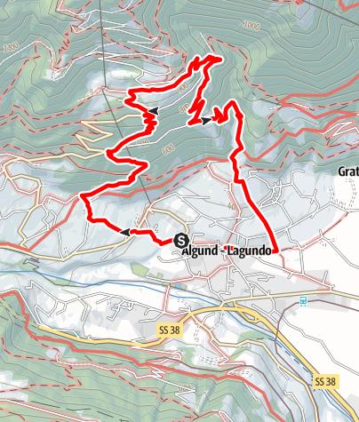 Mappa / Lagundo-Castel Plars-Sentiero Schlundenstein-Ebeneich-Velloi