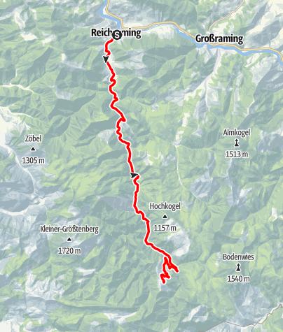 Karte / Blahbergalm ab Reichraming, Radtour