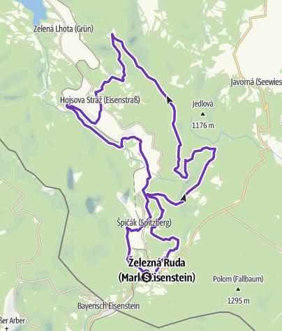 Mapa / Rock Point - Horská výzva 2019: Šumava - HALF