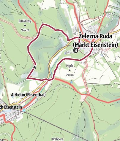 Mapa / Pochod s Mixitkou 2019: Šumava