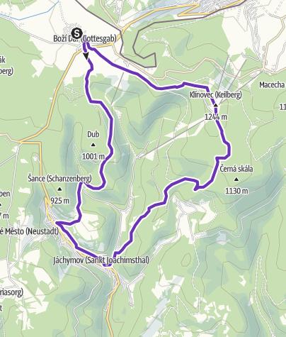 Mapa / Rock Point - Horská výzva 2019: Krušné hory - SHORT