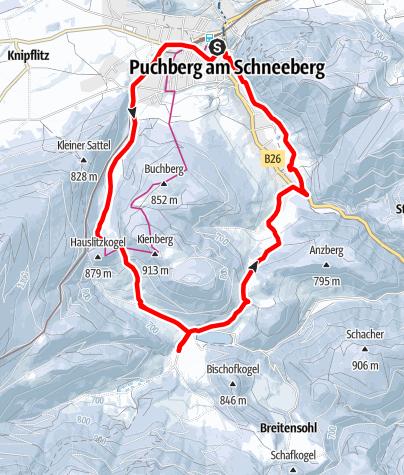 Mapa / Schneeschuhwandern nach Rohrbach im Graben