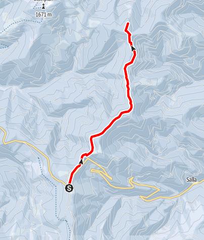 Karte / Höhenwanderung am Gaberl - auf Turneralpe und Hirschkreuz
