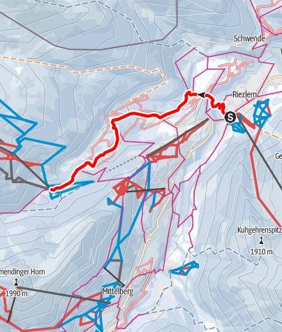Karte / Riezlern - Egg - Au - Wäldele - Auenhütte