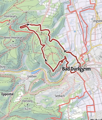 Karte / Bad Dürkheim - Spuren der Kelten & Römer