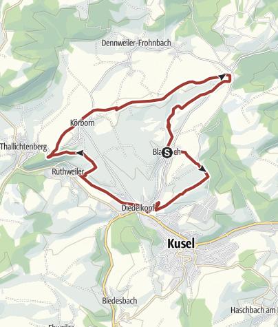 Karte / Blaubach - Über die Wasserscheide zur Burg Lichtenberg