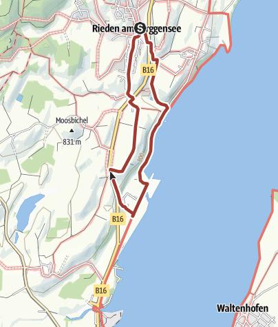 Karte / Forggensee-Panoramaweg