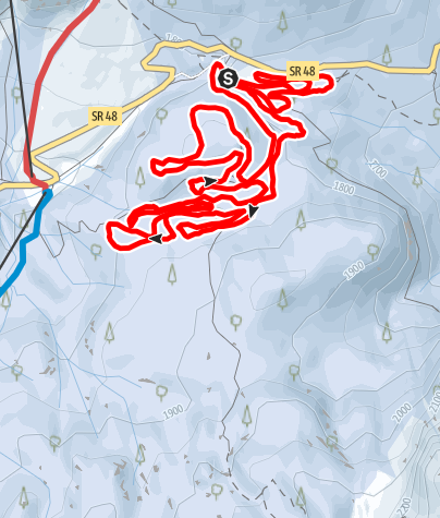 "Map / Track ""Passo Tre Croci"" parziale km. 8"