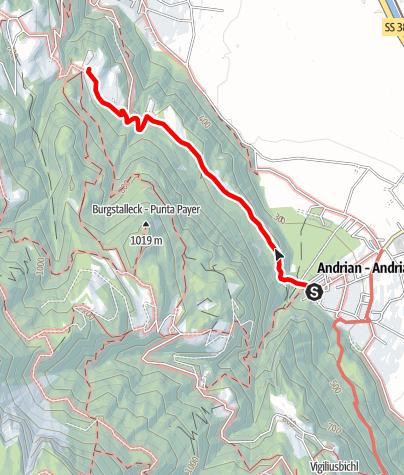 Mapa / Andrian - Bittnerhof - Andrian