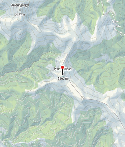 Karte / Gipfelkreuz: Peterer-Riegel