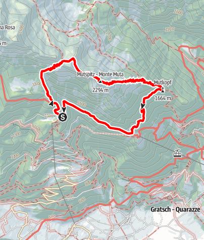 Mapa / Leiter Alm - Taufenscharte - Mutkopf - Steinegg