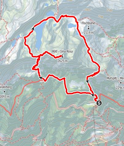 Kaart / Spronser Seenrunde - Rundwanderung ab Leiter Alm