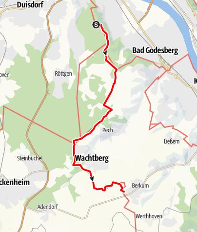 Karte / Osteifelweg (1) - 1. Etappe