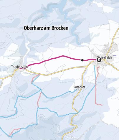 Karte / Harzweg zwischen Hasselfelde und Trautenstein