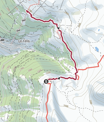 Map / Hotel Weisshorn to St Luc