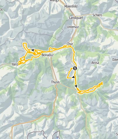 Karte / Flowtour Graubünden