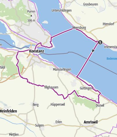Karte / Schweizer Seerücken