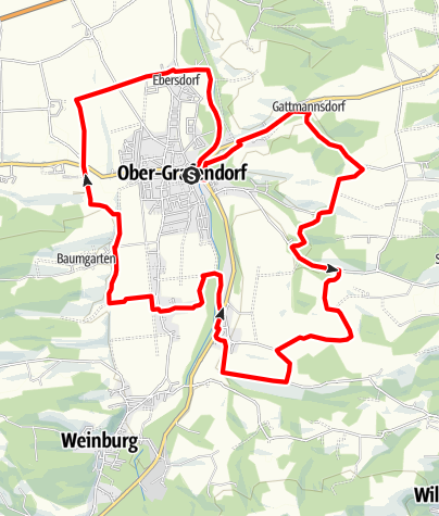 Mapa / Rund um Ober-Grafendorf