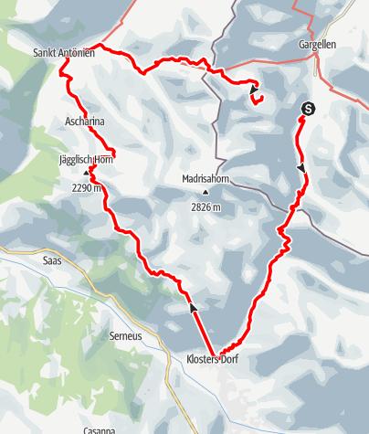 Karte / Madrisa Rundtour (dreitägig) - grenzüberschreitende Panoramatour