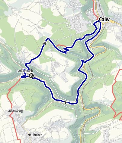 Karte / Auf Hermann Hesses Spuren rund um Calw