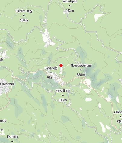Map / Galyatető Turistacentrum/Hikers' Center