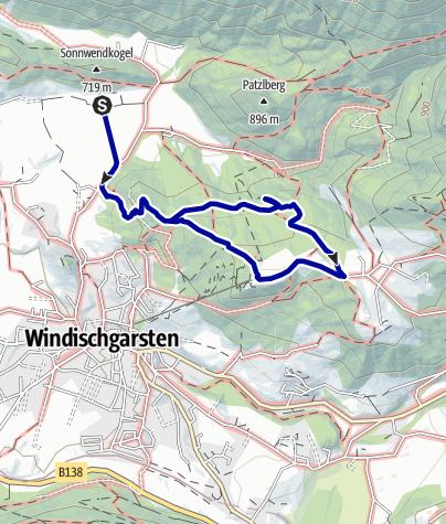 Karte / Bannholzmauer ab Villa Sonnwend, Windischgarsten
