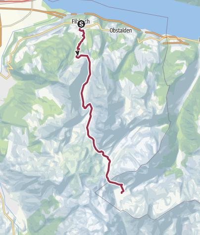 Karte / Etappe 1: Filzbach – Murgsee, 73.01 Sardona-Welterbe-Weg