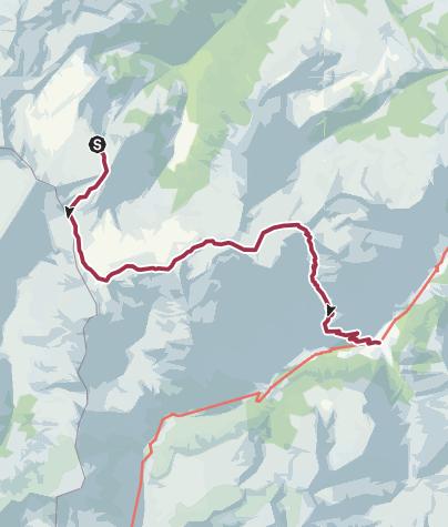 Karte / Etappe 3: Spitzmeilenhütte – Weisstannen, 73.03 Sardona-Welterbe-Weg