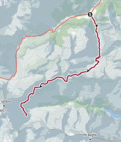 Karte / Etappe 4: Weisstannen – Sardonahütte, 73.04 Sardona-Welterbe-Weg