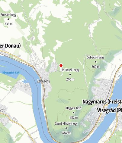 Térkép / Zebegényi erdei sátortábor (Gründl-rét)
