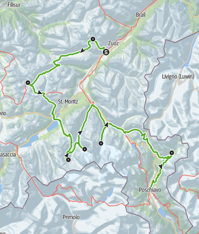 Karte / Bernina Trek (7 Etappen)