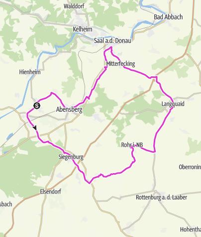 Map /  [r]auszeit Rennrad-Erlebnis V: Zwischen Donau und Tal der großen Laber