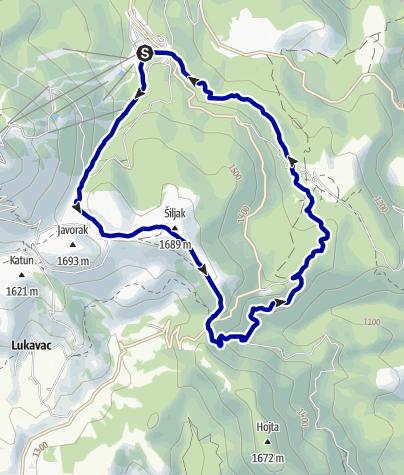 Kaart / Vucko 15km - trail running at Bjelasnica mountain in Bosnia